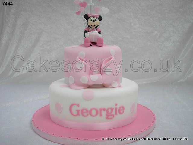 Minnie Mouse CakeYoo Hoo Two tier pink and white girls birthday