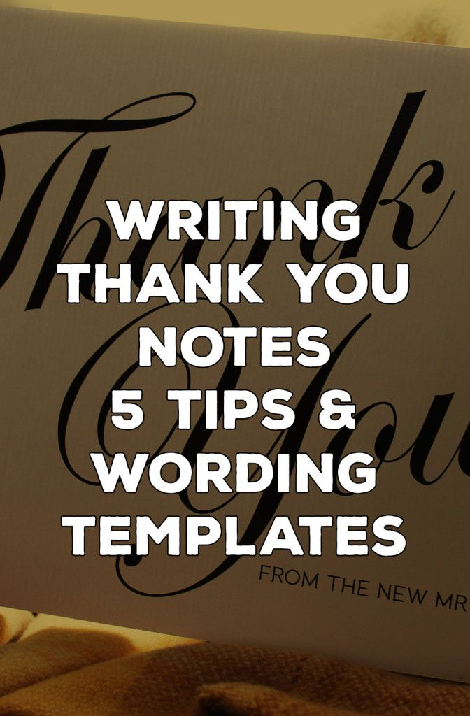7 Thank You Card Wording Ideas A Template To Make Writing Yours