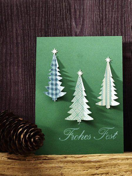 5 kreative ideen weihnachtskarten selber basteln weihnachten pinterest weihnachtskarten. Black Bedroom Furniture Sets. Home Design Ideas