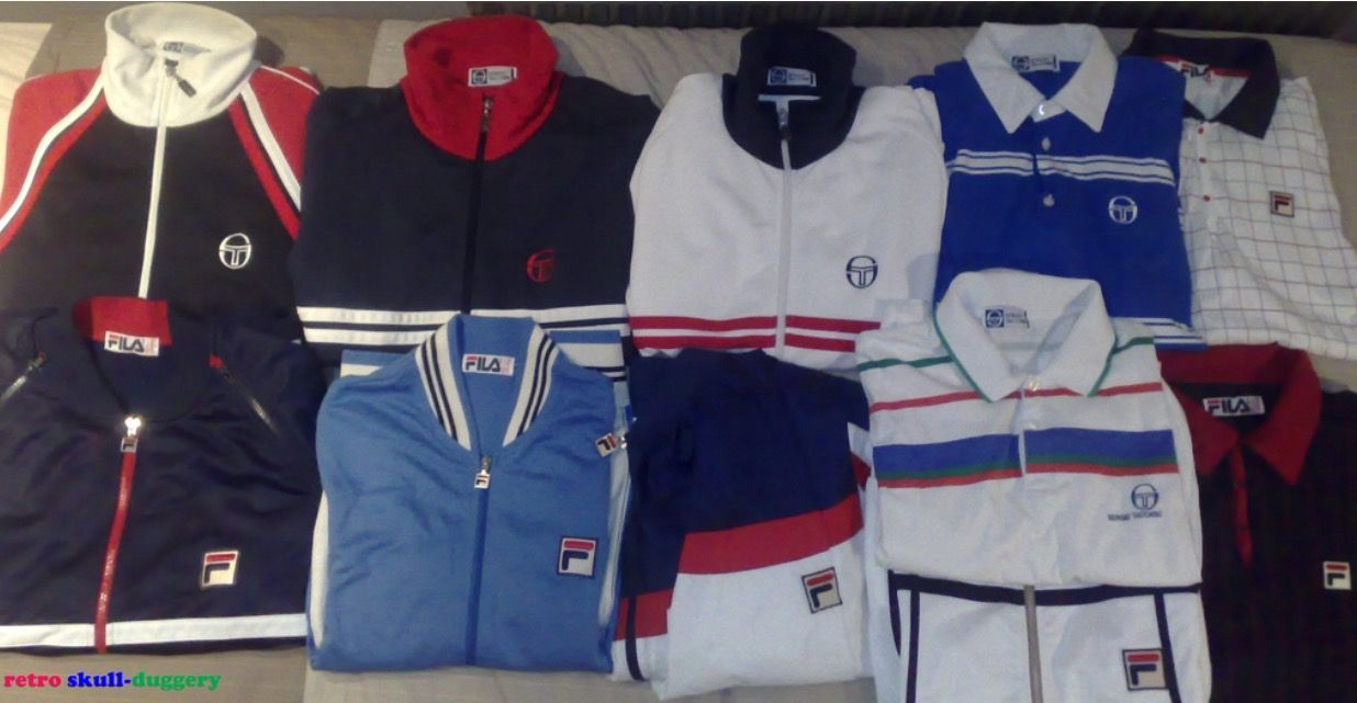 737bfc6be Iconic Casuals, Sergio Tacchini and Fila tracksuit tops | Fashion in ...