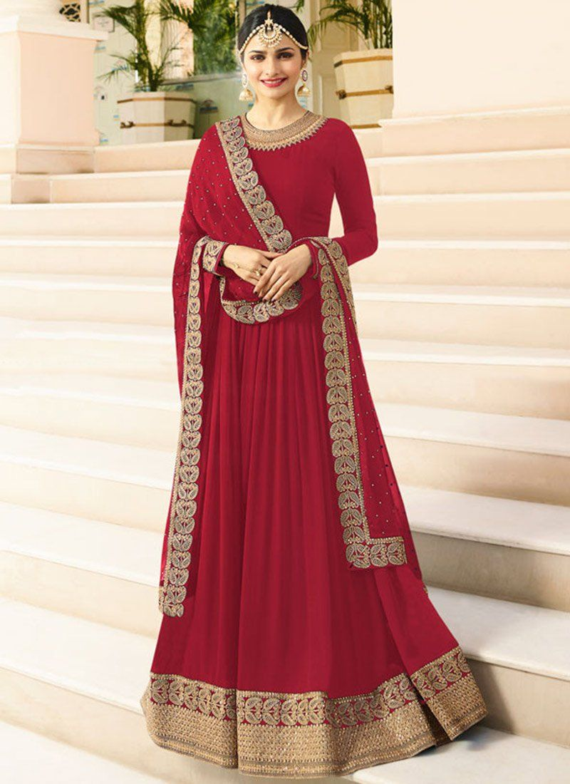 a6bb554e5ff Buy Prachi Desai Pink Embroidered Anarkali suit online
