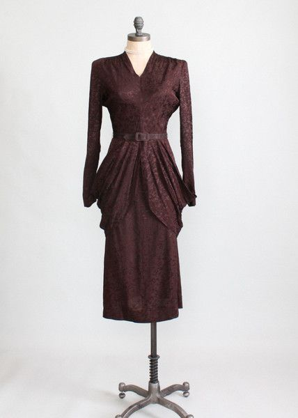 1940s suit dress from Raleigh Vintage.
