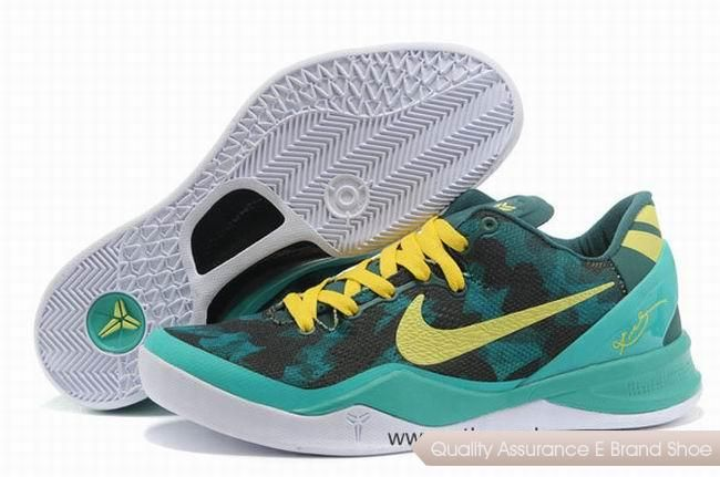 2bf69bf3a1b7 Nike Kobe 8 System Basketball Shoes Green Yellow White.Cheap NBA Basketball  Shoes for Sale online at our mall shop enjoy more discount -  24hshoesmall.com