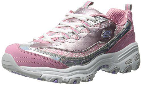 Skechers Sport Womens Dlites Fashion Sneaker Pink/Silver 10 M US