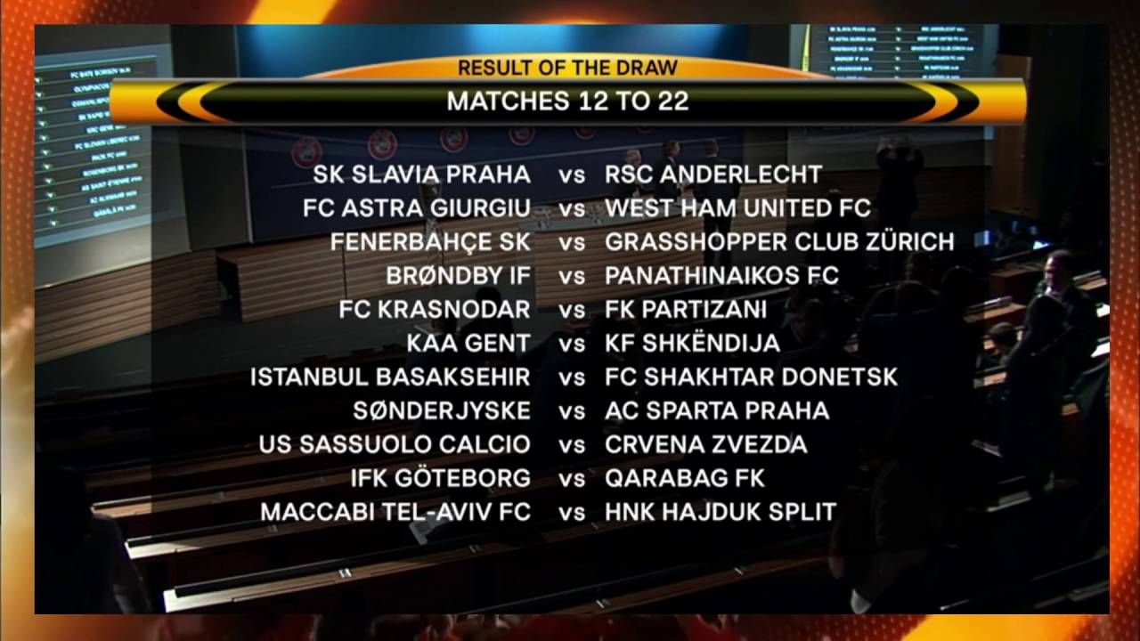 The 2017/18 UEFA Europa League group stage draw has been made in Monaco.  FULL FIXTURE LIST Paul Pogba named Player of the Season