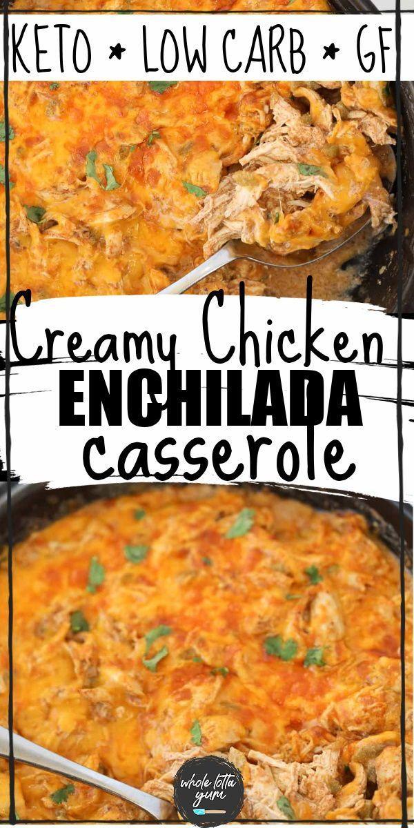 Sour Cream Chicken Enchilada Casserole Keto Gf Recipe In 2020 Keto Recipes Dinner Keto Recipes Easy Hotdish Recipes