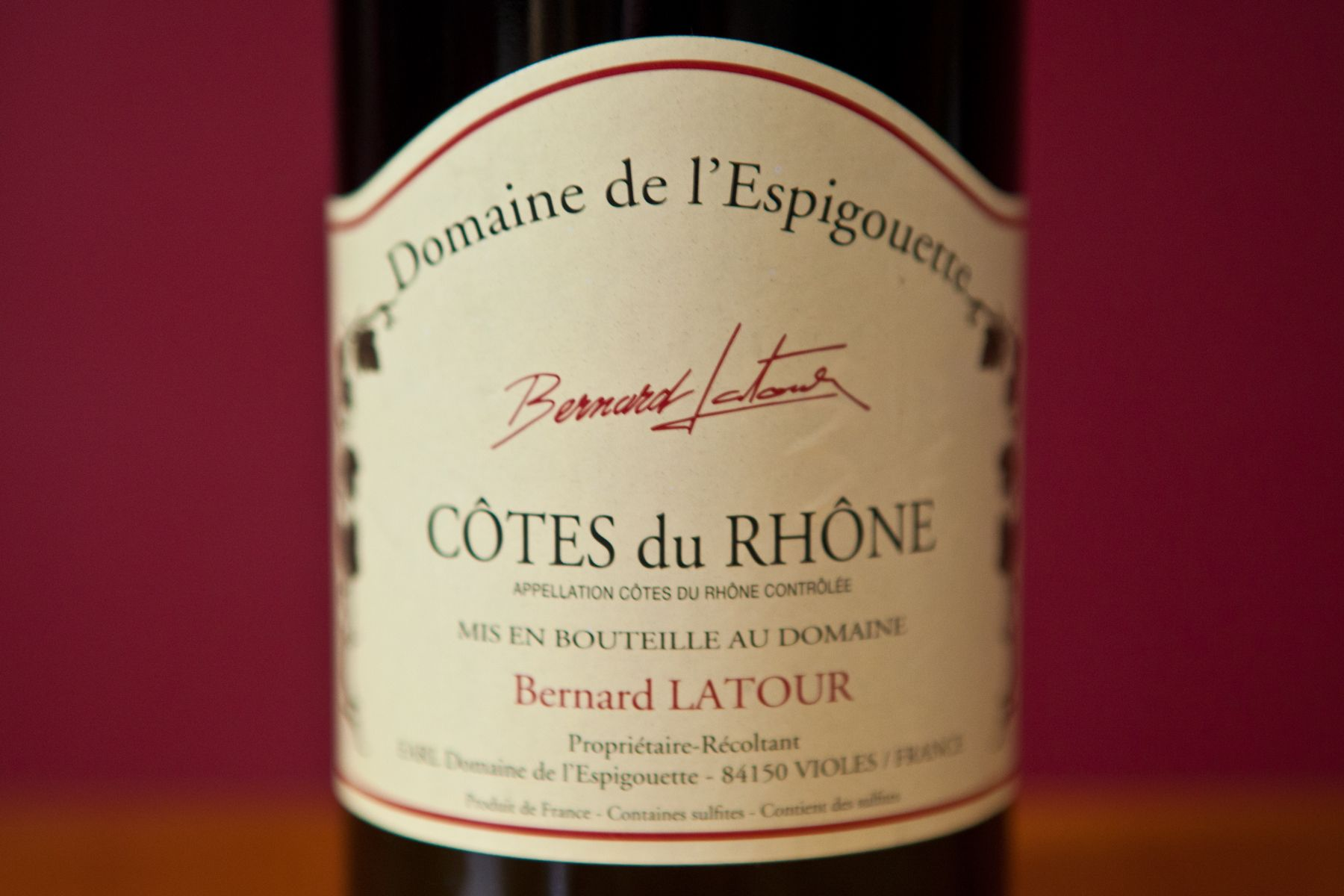 Domaine De L Espigouette Organic Wine Wine Bottle Wines