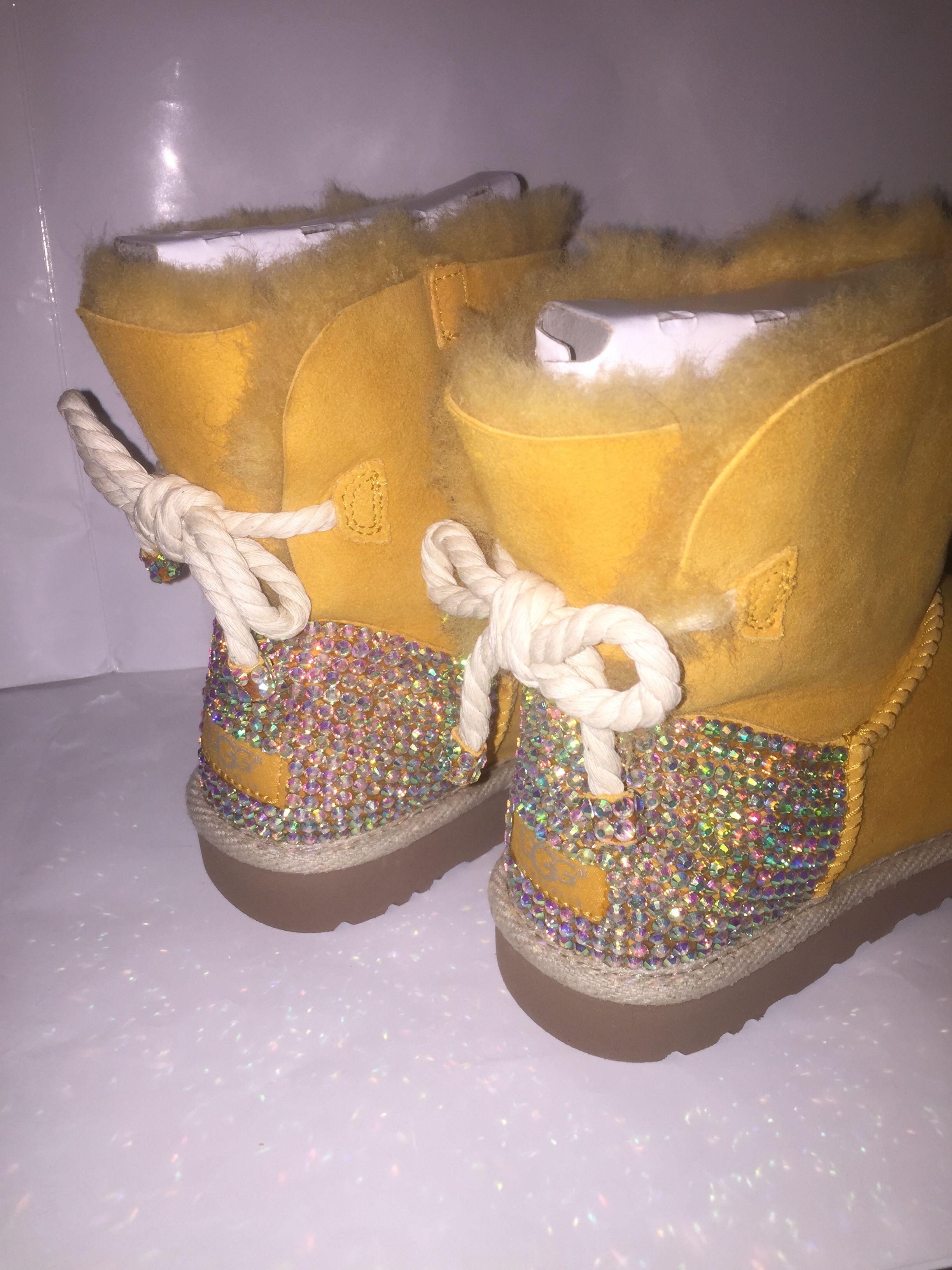 b7c5c32fcf6d Custom Bling Ugg Boots Embellished With High Quality Rhinestones   Pearls