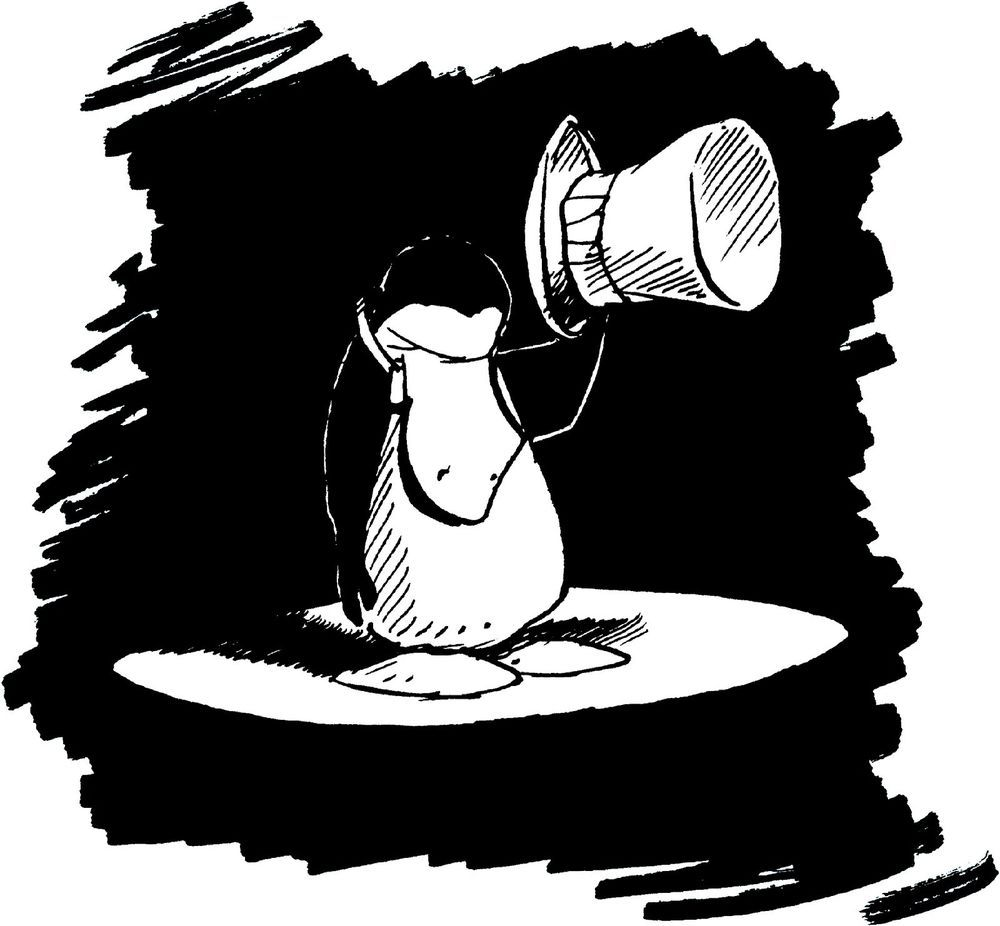 """Opus the Penguin /""""Penguin Lust/"""" graphic tee Bloom County"""