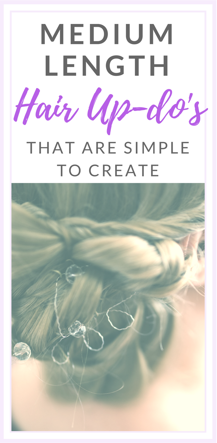 Updos for medium length hair that are super easy for anyone to do