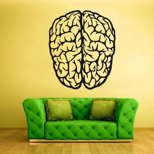 Wall Decal Vinyl Sticker Decals Brain Genius by StickersForLife, $28.99