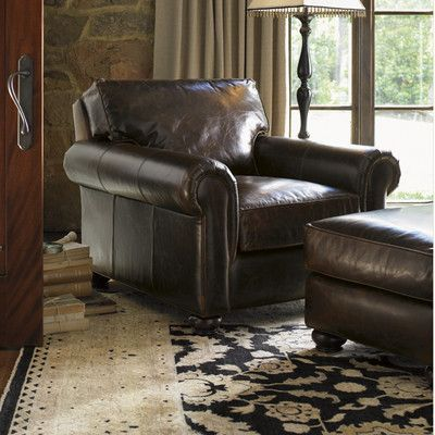 Lexington Images Of Courtrai Flanders Leather Chair And Ottoman | Wayfair