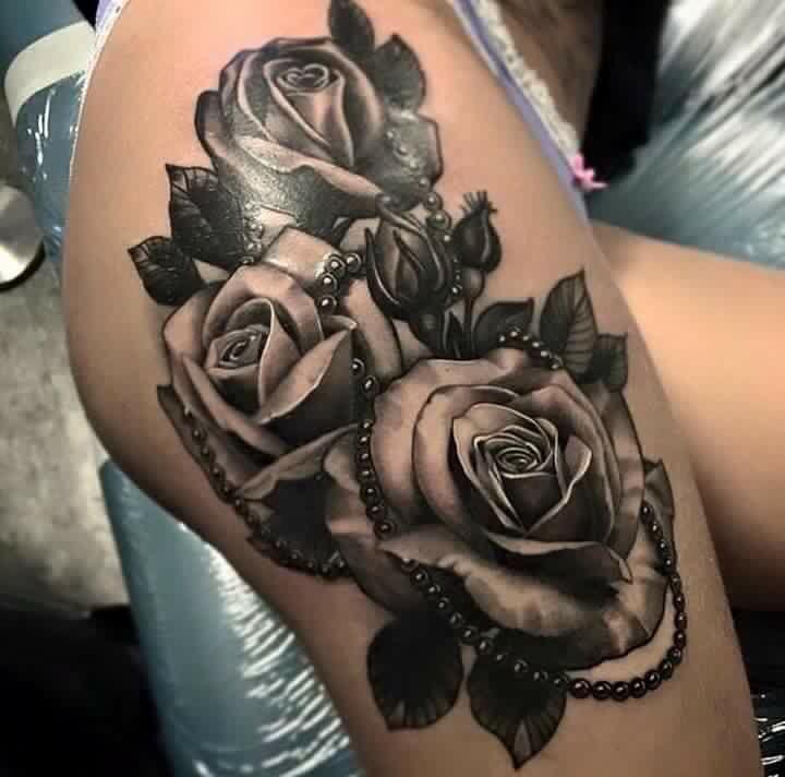 Ramo De Rosas Tatuaje En Cicatriz Tatuajes Femeninos Alas Tatuaje