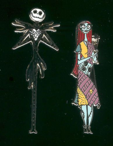 Jack Skellington Sally Nightmare Before Christmas 2 Pin Set (I have