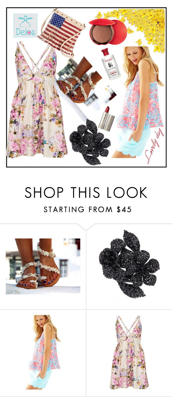 """""""DELOS ART #15"""" by nizaba-haskic ❤ liked on Polyvore featuring Valentino, Lilly Pulitzer, Oh My Love, TWIG & ARROW, Guerlain and Ilia"""