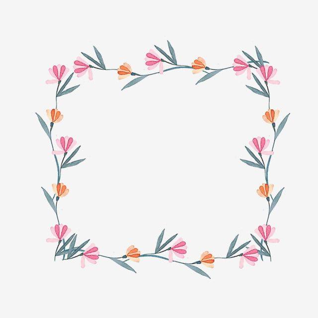 Photo of Acquerello bellissimo fiore cornice bordo fiore pianta acquerello piccola ghirlanda fresca pizzo bordo floreale, illustrazione, acquerello PNG e file PSD per il download gratuito