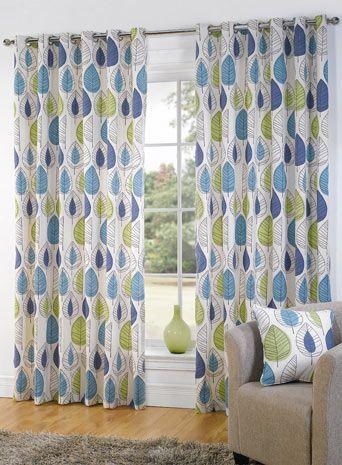 Room · Retro Leaf Eyelet Curtain.