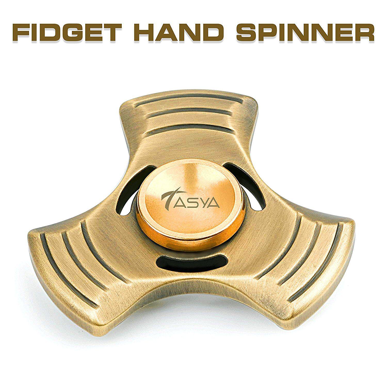 Tasya Fidget mano Spinner estrés relevista enfoque escritorio de juguete para EDC, ADD, ADHD, autismo. Altamente Durable antiguo cojinete alemán híbrido de cerámica Metal, ultra rápida. Gira hasta 6 minutos. Para adultos y niños: Amazon.es: Juguetes y juegos
