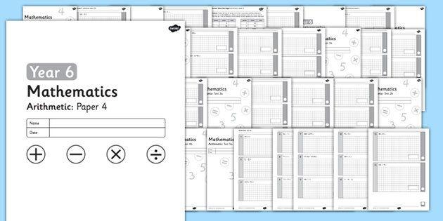 KS2 Arithmetic Practice Tests Year 6 Bumper Pack | Maths | Pinterest