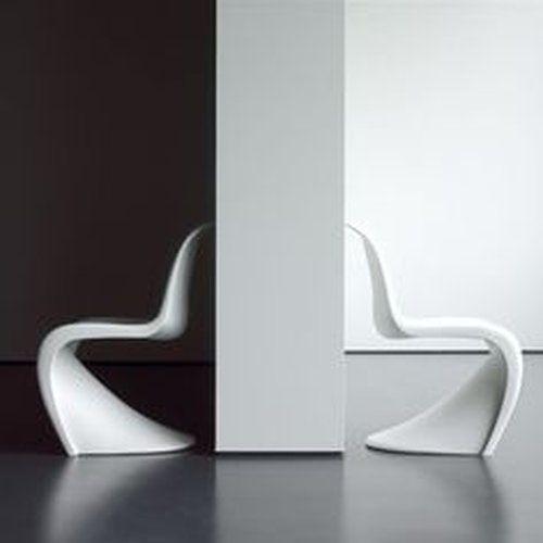 Verner Panton Stuhl In Weiss Plastic Side Chair Panton Chair