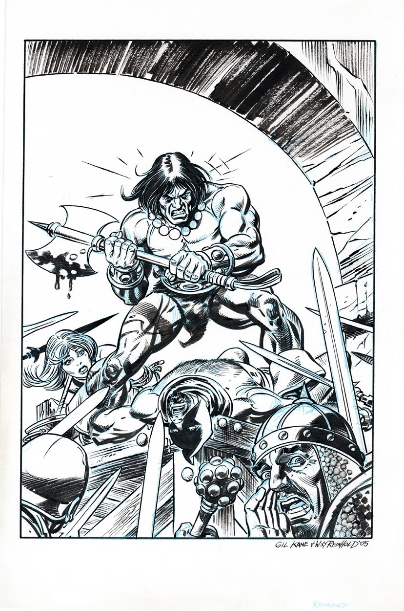 CONAN by Gil Kane and Bill Reinhold Comic Art