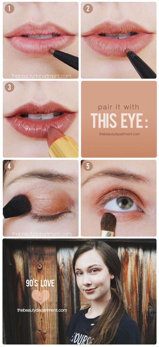 Nineties Brown Revival Winter Aesthetic Makeup 90s Makeup - Grunge-makeup-ideas