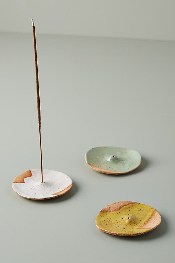 Dip-Dyed Incense Holder by Nightshift Ceramics in Green, Fragrance at Anthropologie