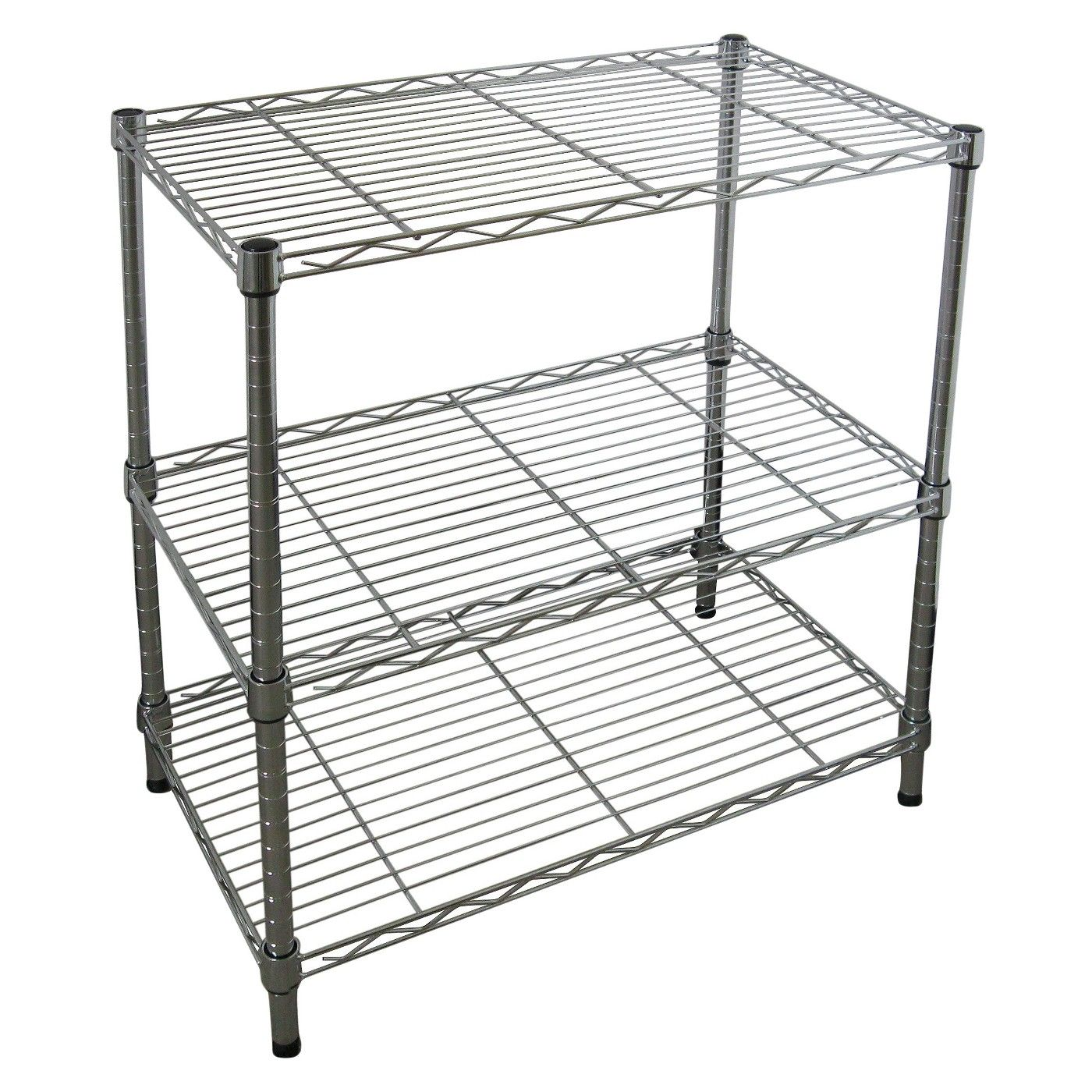 Adjustable 3 Tier Wire Shelving  Chrome  Room Essentials