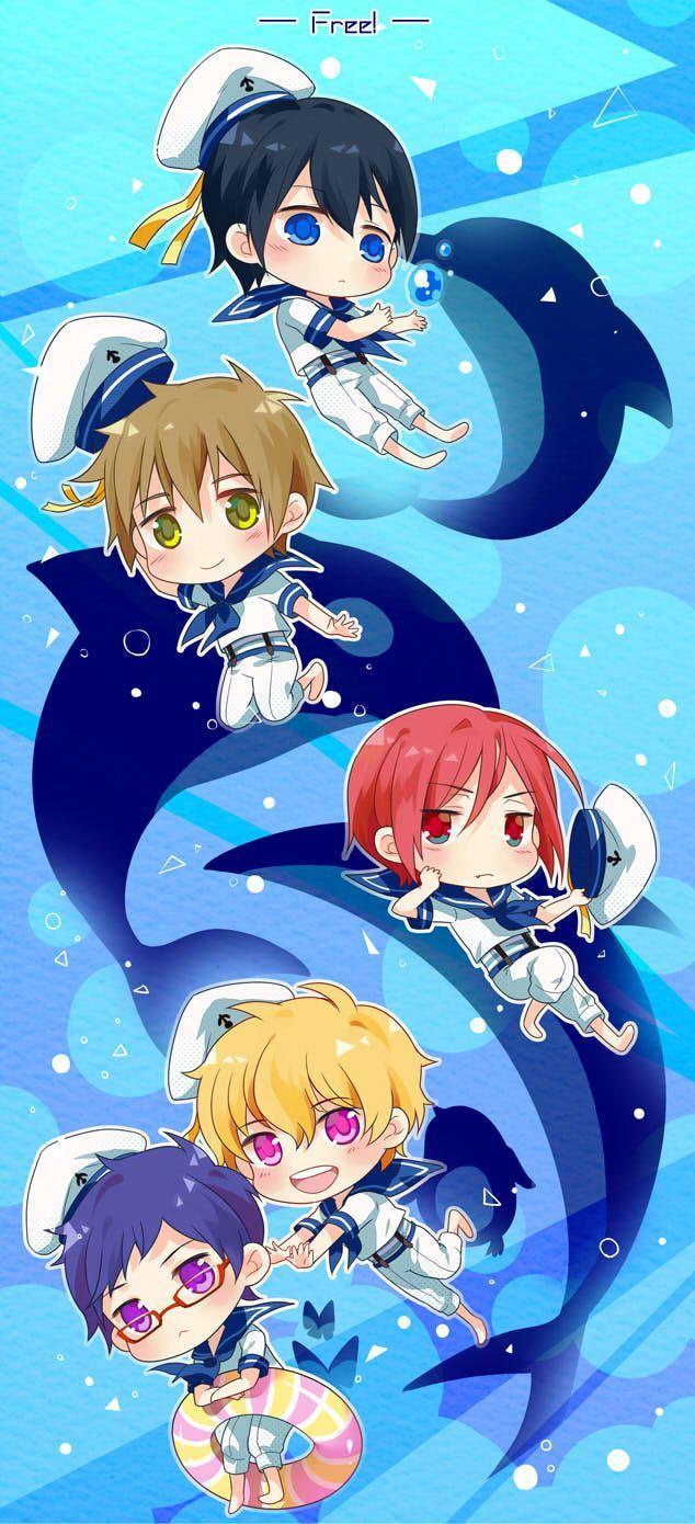 Haru, Makoto, Rin, Nagisa, and Rei Free! (With images