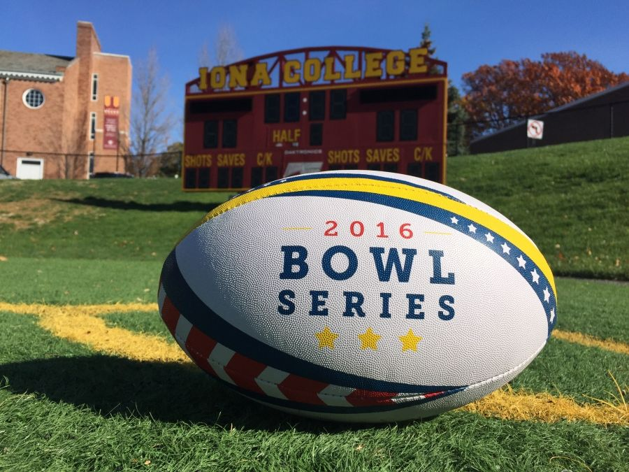 Custom Rugby Ball Designed For 2016 Bowl Series Hosted By Urugby In New Rochelle Ny Rugby Ball Rugby Iona