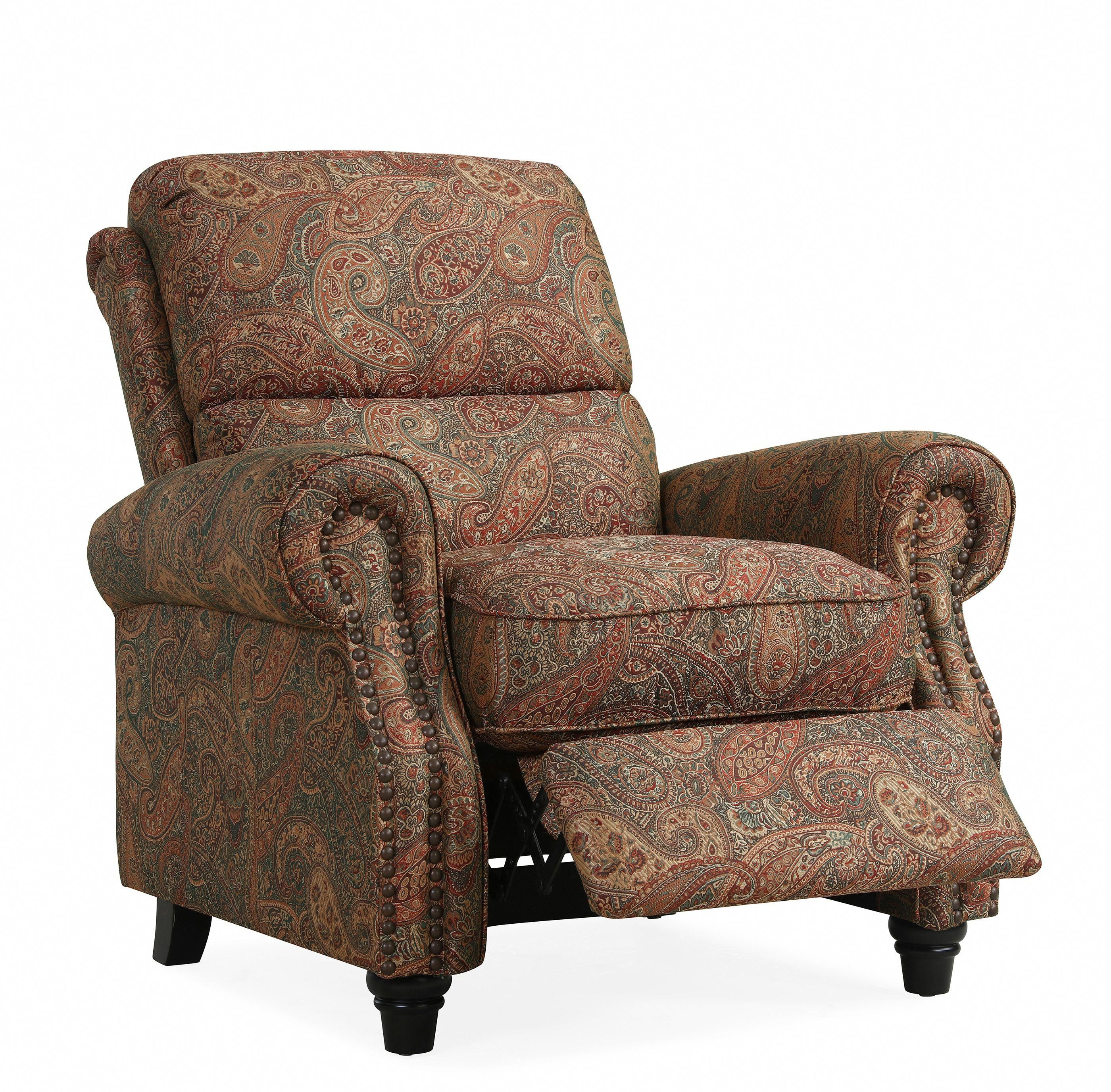 Cari Push Back Recliner Chair in Paisley