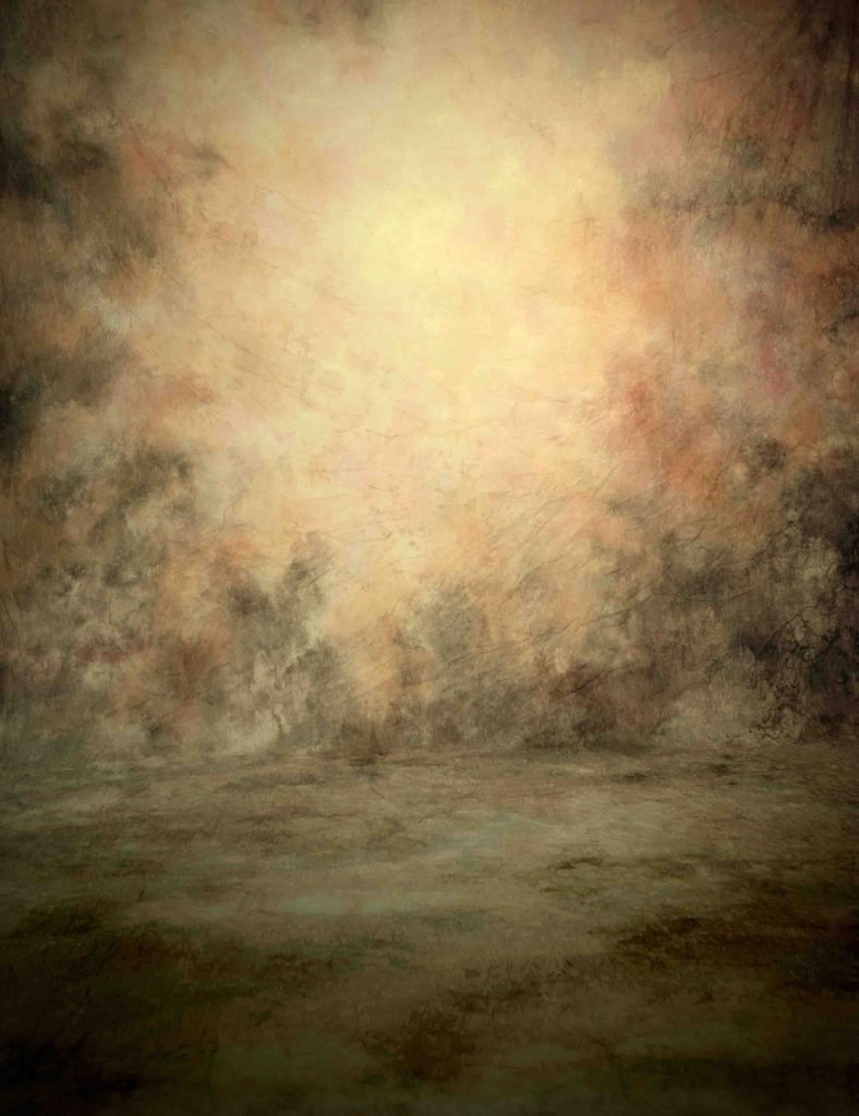 Old Master Printed Oil Paint Yellow Gradient Backdrop For