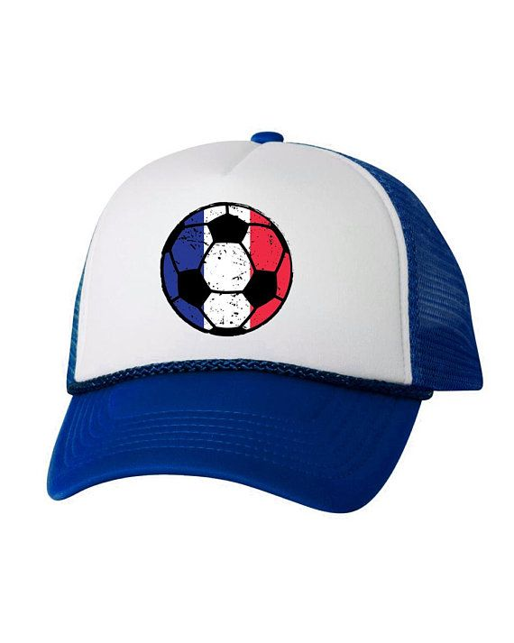 78a409008d1 France Soccer Ball Trucker Hat French Hats France Soccer Snapback Hat  France 2018 Baseball Cap Franc