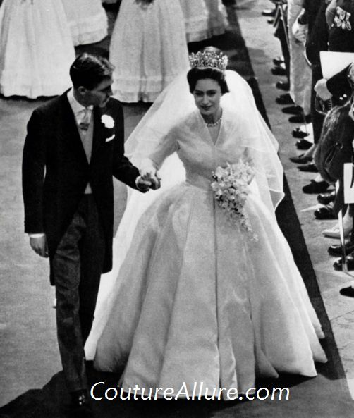 Norman Hartnell Designed This Silk Organza Wedding Gown For