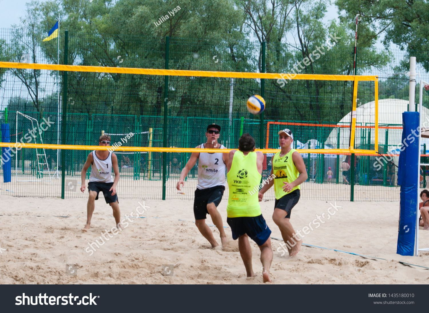 Ukraine Chernigov June 9 2019 Beach Volleyball Championship Of The City Beautiful Young Sports Strong Men Play Volleyball O In 2020 Beach City Beach Photo Editing