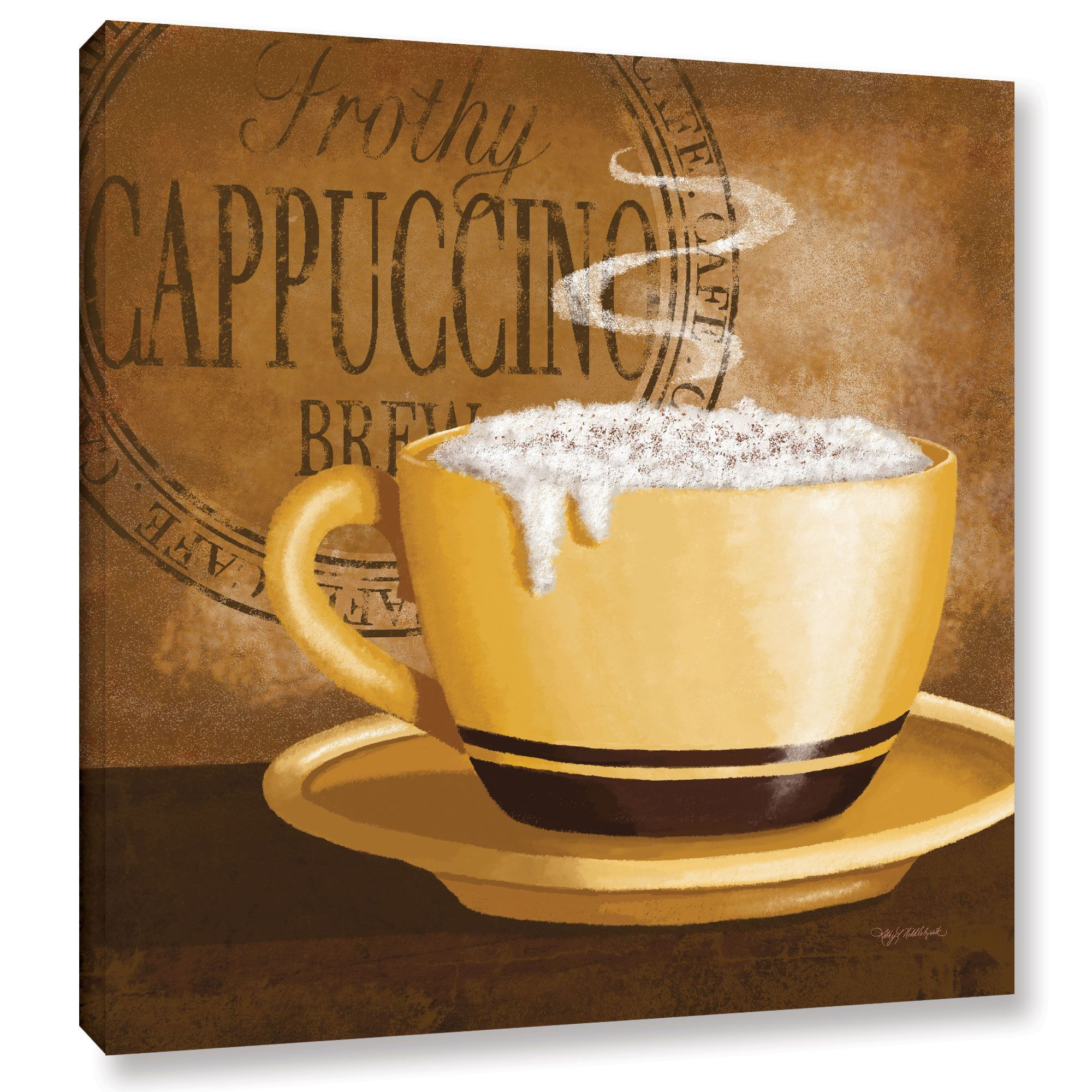 ArtWall Kathy Middlebrook\'s Frothy Cappuccino, Gallery Wrapped ...