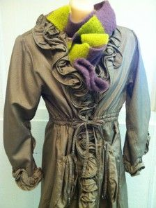 This #PrettyAngel coat rings out adorable! Small, $65; green/purple scarf $14. - See more at: http://sonomaconsignment.com/photo-gallery/#sthash.bN9Wqkea.dpuf