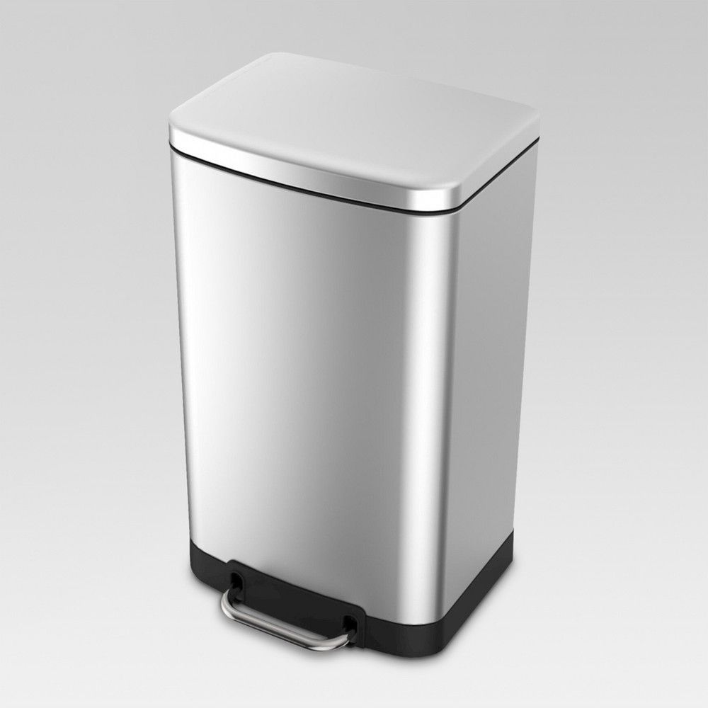 40 Liter Rectangle Stainless Steel Trash Can Threshold Target Trash Can Kitchen Trash Cans Target Kitchen