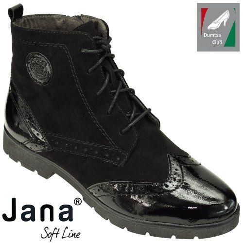 Jana Soft Line női bokacipő 8-25265-21 001 fekete  7ba7672e2d