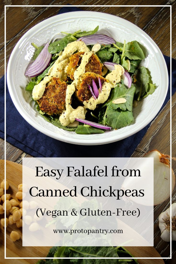 Easy Falafel With Canned Chickpeas