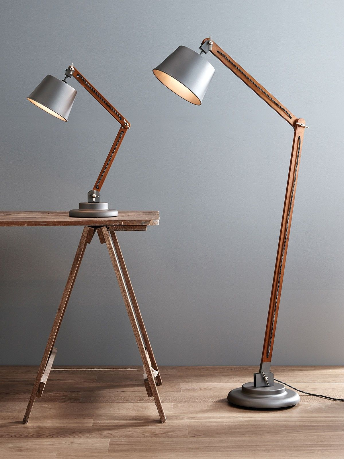 d405274c7d9f Nuvo Floor Lamp in Metal/Washed Grey | свет in 2019 | Adjustable ...