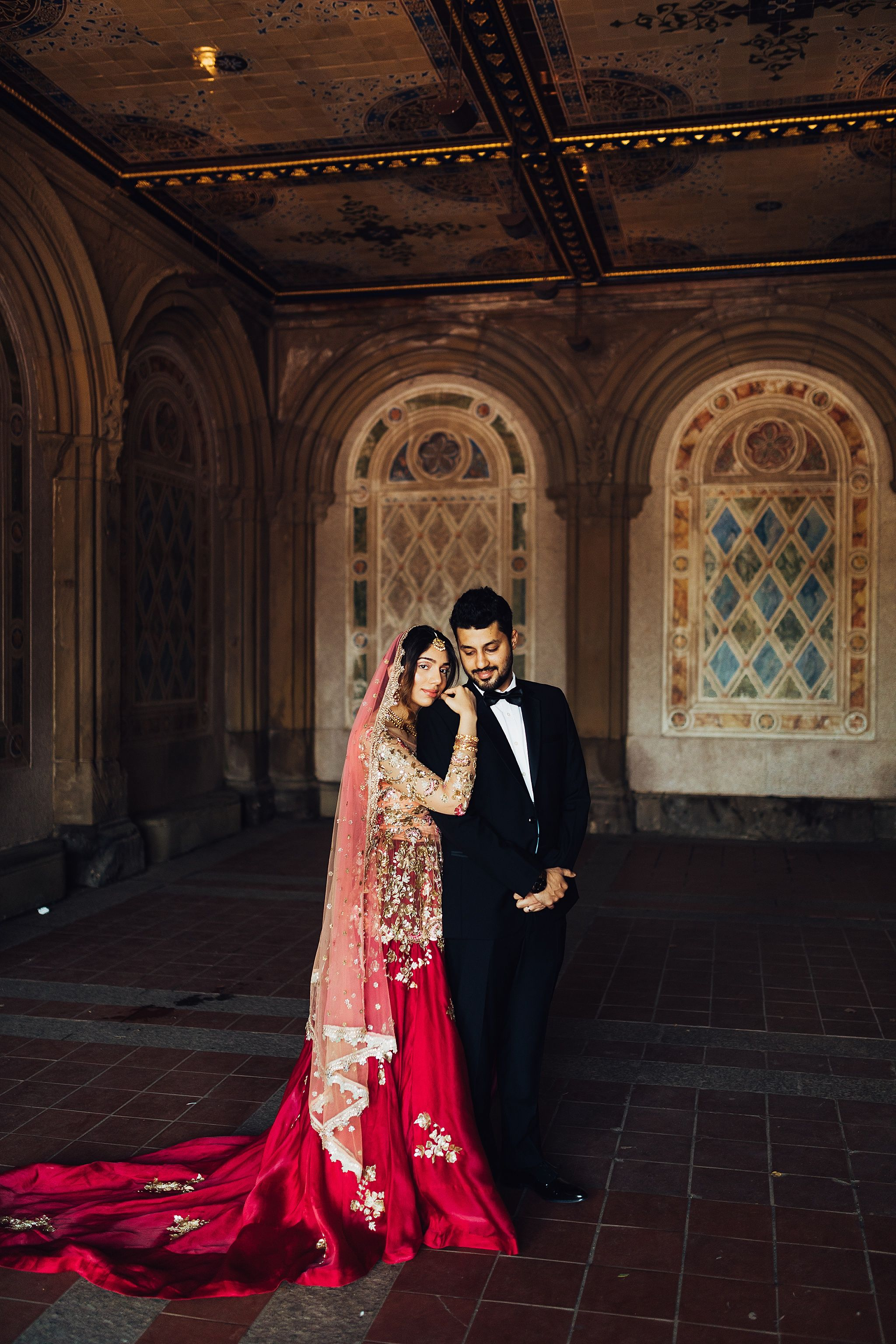 Jamal Sanah Nyc Central Park Indian Wedding Wedding Couple Poses Indian Wedding Couple Wedding Poses