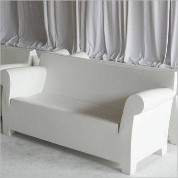 Molded Plastic Patio Furniture.Bubble Sofa Designed By Philippe Starck And Made Of White Molded