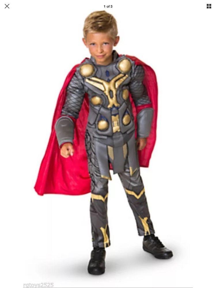 Thor Halloween Costume   Marvel Avengers Thor Halloween Costume For Boys M 8 Super Hero Greek