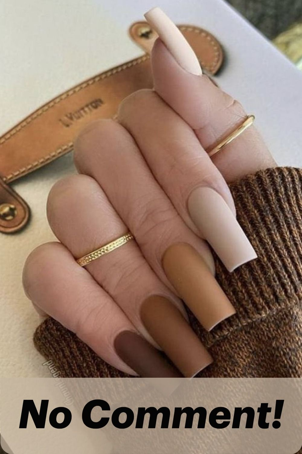 6 Colors Fall Winter Chocolate Brown Nails