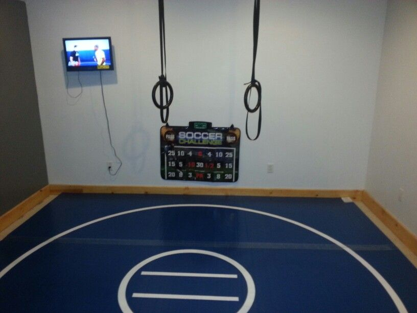 Home wrestling room