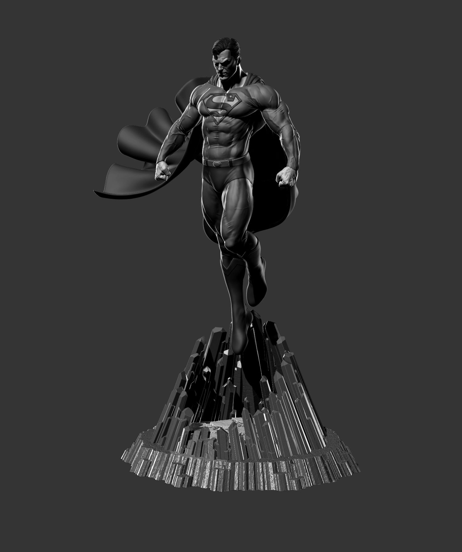 Character Design Zbrush : Superman for d print zbrush sculpt by danma