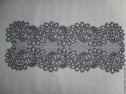 Текстиль, ковры ручной работы. Заказать Дорожка кружевная, плетеная на коклюшках в стиле вологодского кружева. Радуга в доме. Ярмарка Мастеров.