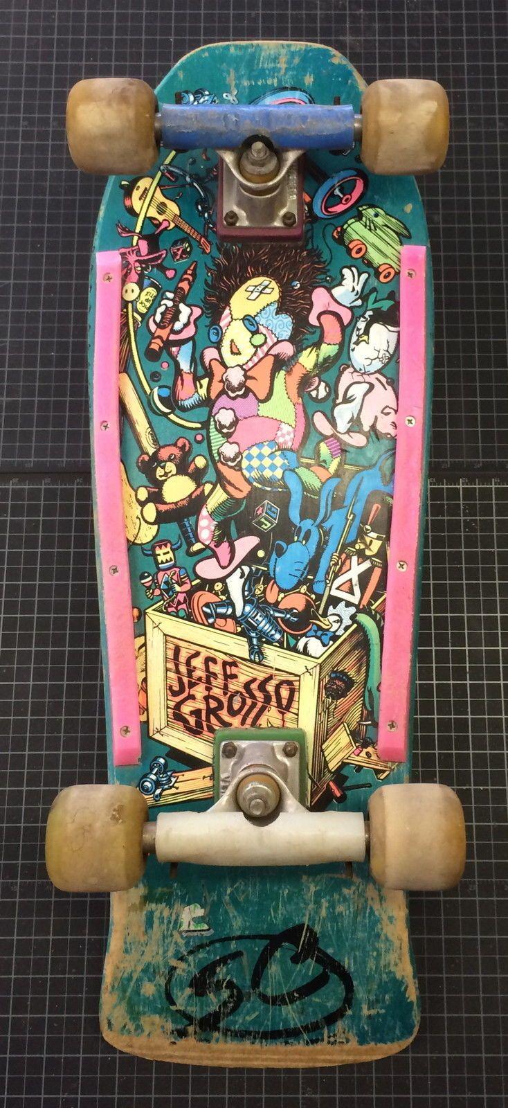 4c37b17f27 RARE Vintage 1987 Santa Cruz Jeff Grosso Toy Box skateboard - not a ...