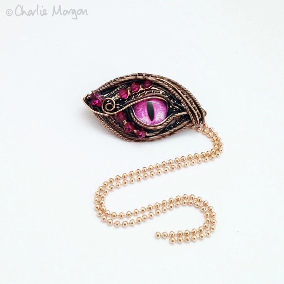 Dragons Eye Pendant wire wrapped Dragon eye wire by CharlieMorgon ...